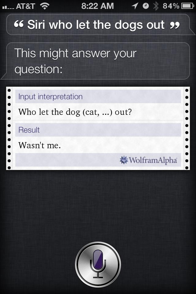 Siri knows all