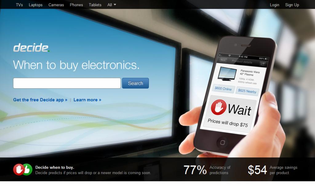 Decide.com Shopping