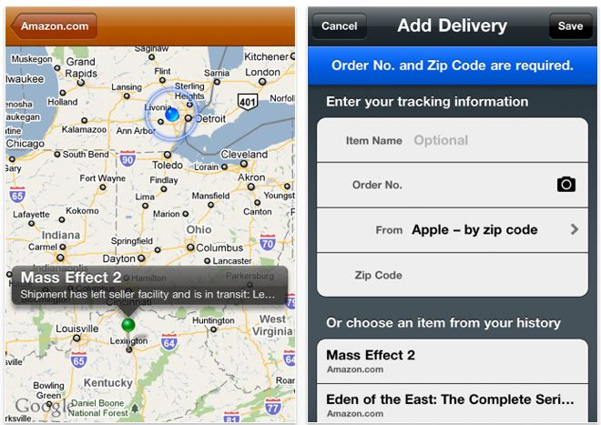 Deliveries Tracking App