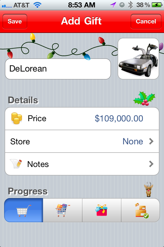 iOS App Better Christmas List