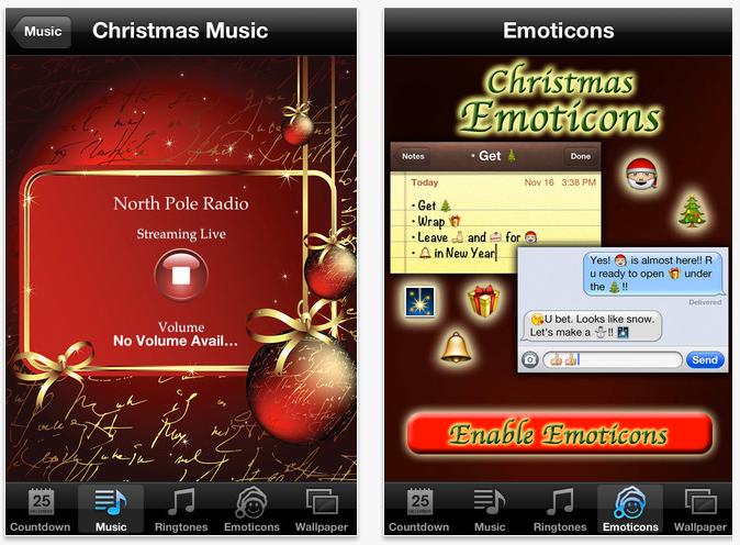 Christmas App iOS Screenshot
