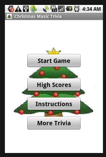 Christmas Music Trivia App