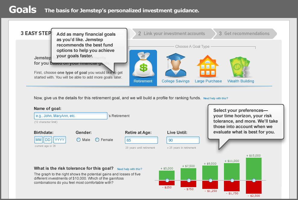 Jemstep Financial Goals