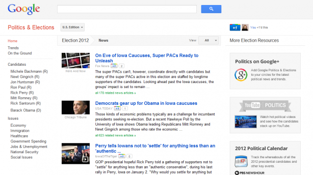 Google Presidential Election News
