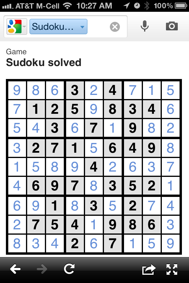 Google Goggles Sudoku
