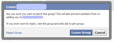 Quitting a Facebook Group