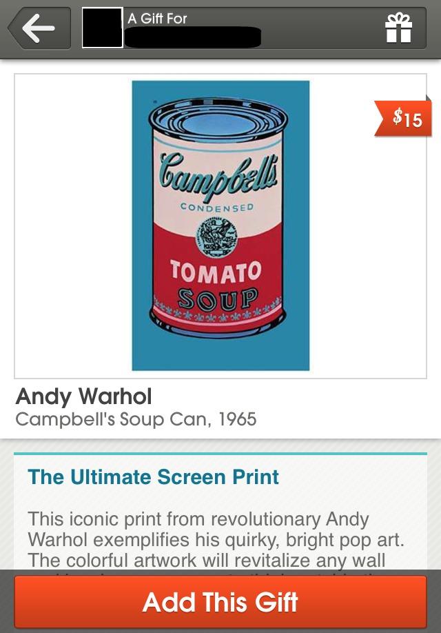 Karma Andy Warhol Tomato Soup