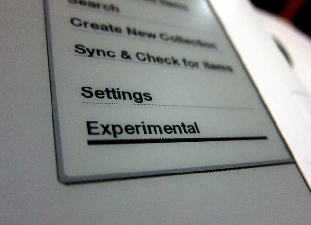 Kindle 3G Keyboard Experimental