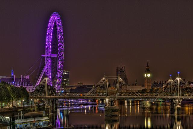 London Eye Light Show
