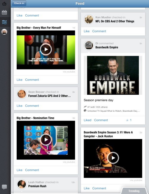 GetGlue Feed Content