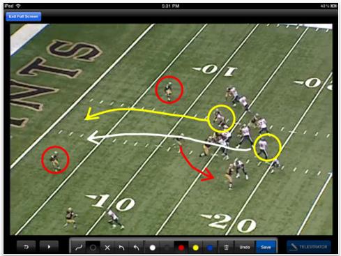 NFL iPad app Telestrator
