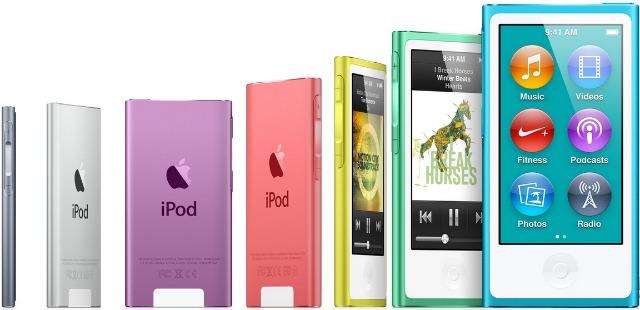 iPod Nano seven colors