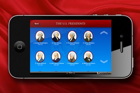 Britannica US Presidents iOS app