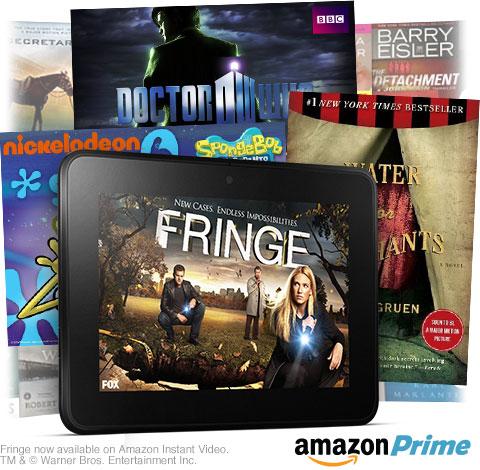 Amazon Prime Videos and Books