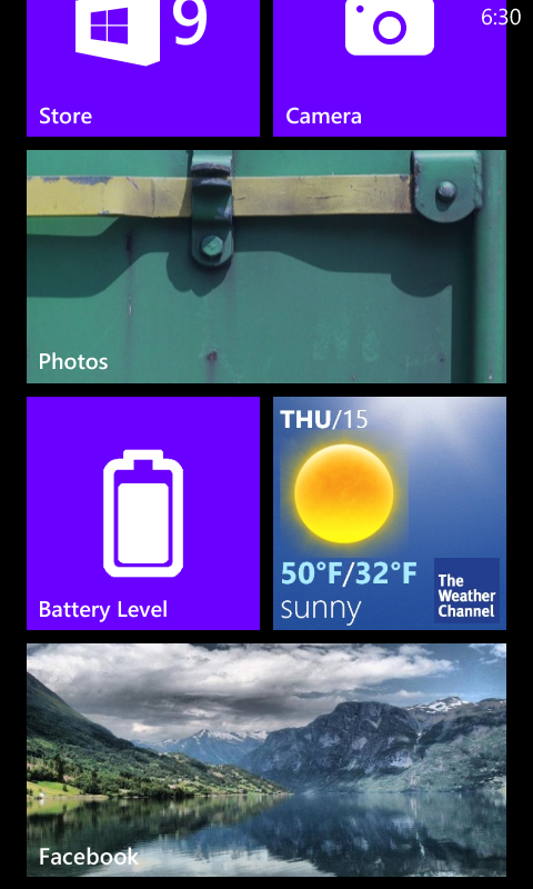 The Weather Channel Live Tile