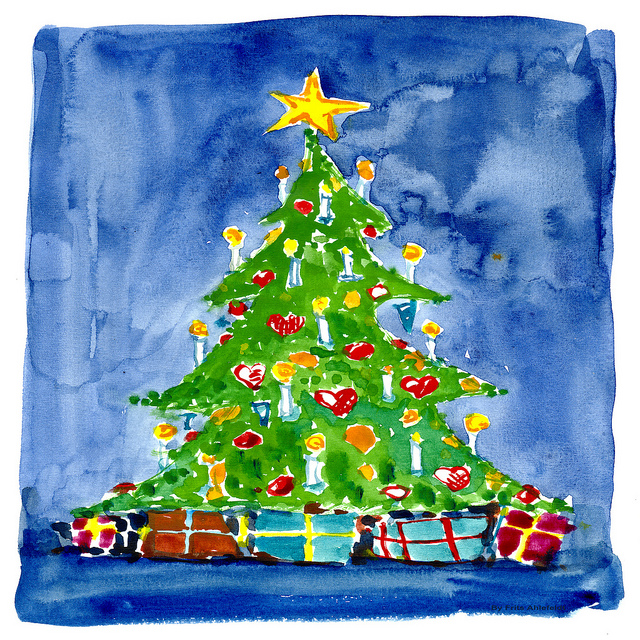 Watercolour Christmas Tree: Merry Ways To Get In The Christmas Spirit With Tech