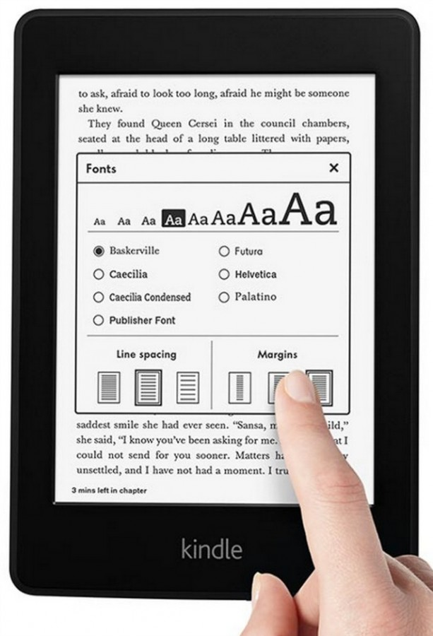 Kindle Paperwhite Font choices