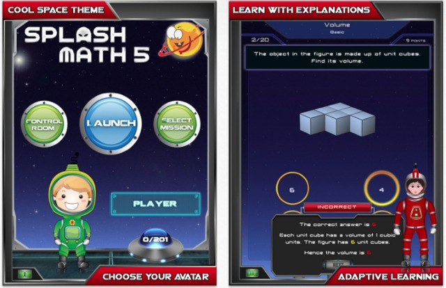 Splash Math 5 app