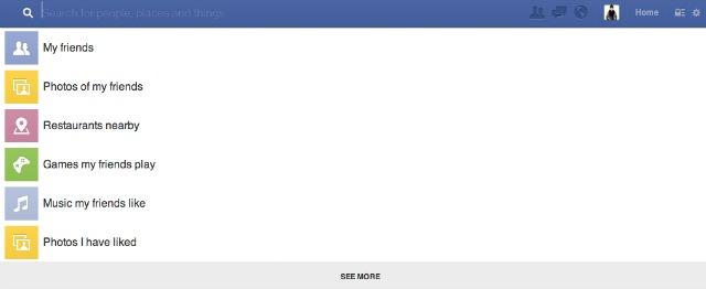 Facebook Search Bar