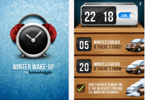 Winter Wake-up Alarm App
