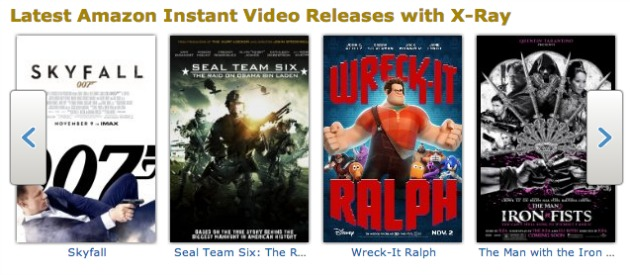 Kindle X-Ray for Movies on Amazon Instant Videos