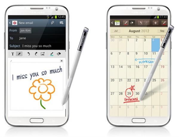 Galaxy Note 2 S Pen Handwriting
