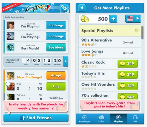 Song Pop Playlists