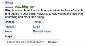 Search Bing on Bing!