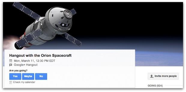 Google Hangout On Air NASA
