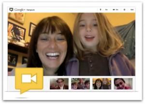 Google Hangout Sample Screen