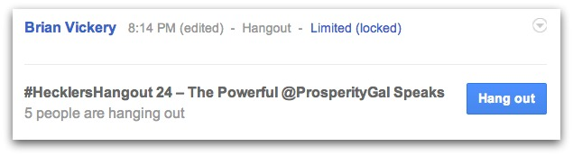 Google Hangout Sample