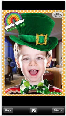 St. Patrick's Day iPhone Camera App