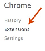 Google Chrome Extension Settings