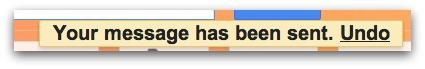 Gmail Undo Send Button