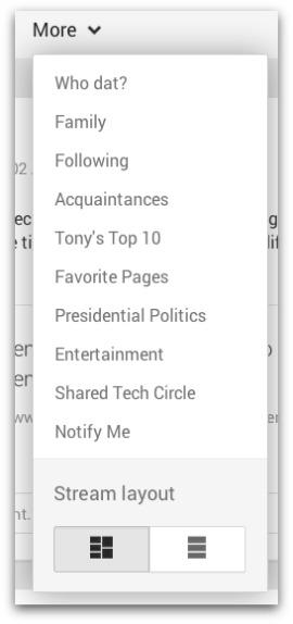 Google Plus Columns