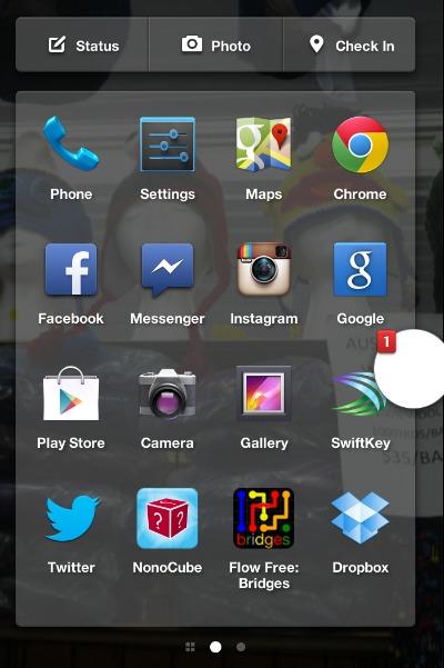 Facebook Phone App Launcher