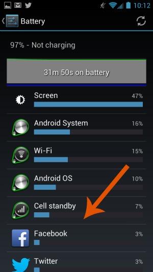 Facebook Phone Battery