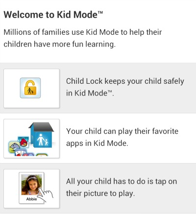 HTC One KidMode