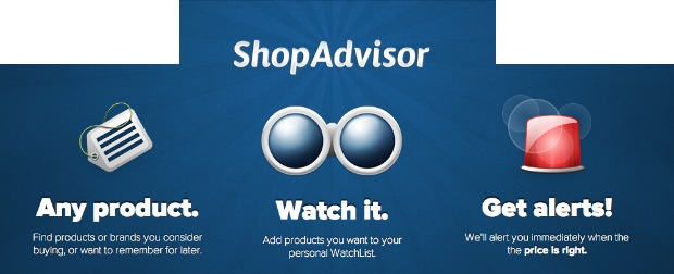 Shop Advisor website