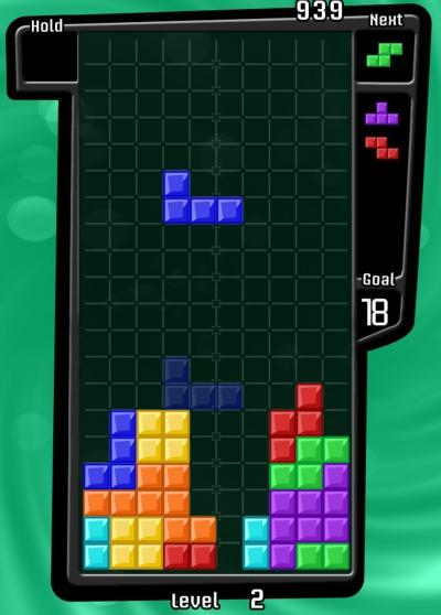 Tetris classic puzzle game