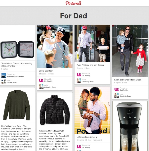 Pinterest Fathers Day Pinboards