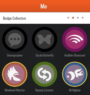 Audible App Badges