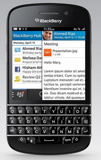 BlackBerry Q10 Hub