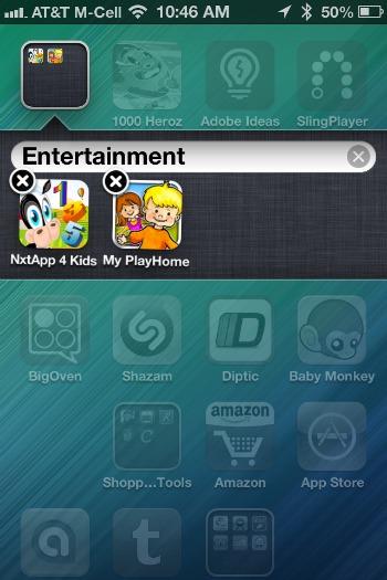 iPad Kids App Folders