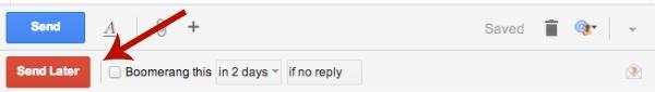 Boomerang Delay Sending Gmail