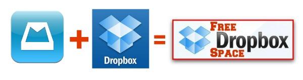Free Dropbox Space Mailbox App