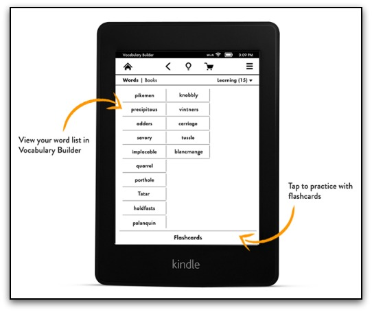 Kindle Paperwhite Flash Cards