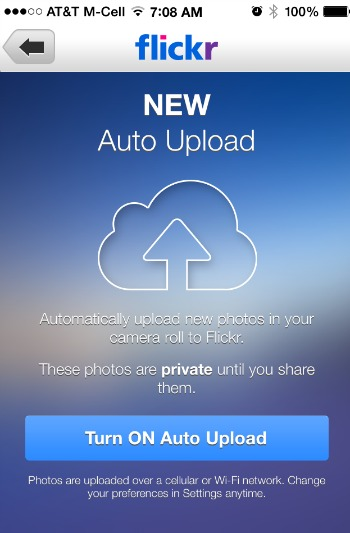 Fickr Auto Upload iOS 7