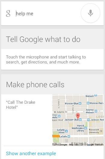 Google Now Moto X Options