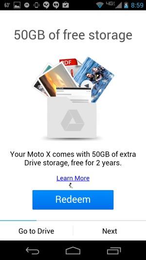 Motorola Moto X Google Drive 50 GB